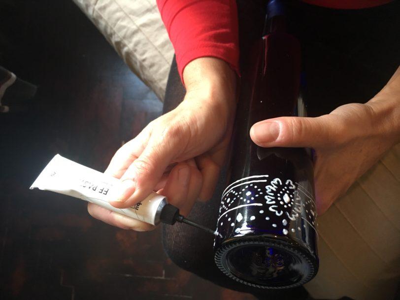 Kézzel festett üvegek